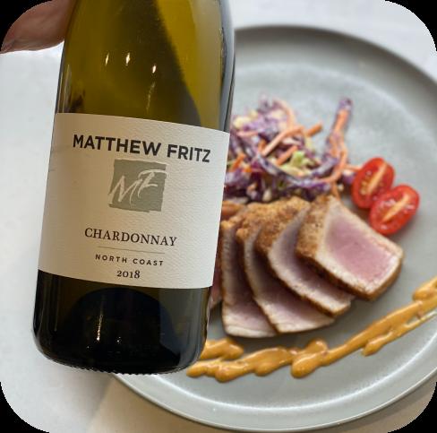 BBQ spiced Tuna Steaks & Matthew Fritz North Coast Chardonnay